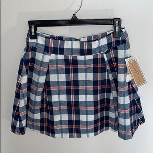 Copper Key Plaid Mini Skirt Size Small New